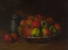"""Courbet, """"Still Life with Apples and a Pomegranate""""   See the best #Art installations in New York at www.artexperience..."""