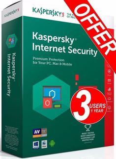 Kaspersky Internet Security 2017 1 Year 3 Device PC Global Download Version Fast