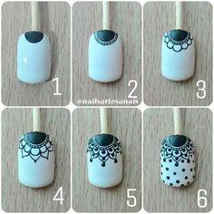 Make up secrets / Make-up Tutorials / Makeup ideas Lace Nail Art, Lace Nails, Pink Nail Art, Flower Nails, Nail Art Hacks, Nail Art Diy, Diy Nails, Indian Nails, Henna Nails