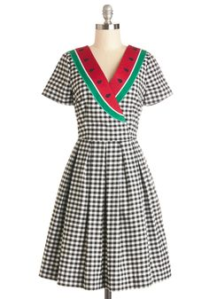 Picnic Person Dress. They say that no good seed goes unnoticed, and this Bea  Dot dress serves as proof! #multi #modcloth