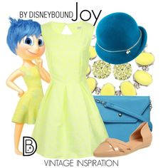 Joy by leslieakay on Polyvore featuring Glamorous, Dorothy Perkins, QVC, Mademoiselle Slassi, disney, disneybound and disneycharacter
