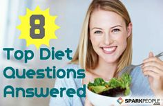 Got #dieting questions? We've got answers! Here are the 8 biggest FAQs about #food and #weight. via @SparkPeople #weightloss #eatright