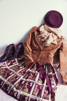 JSK - Jane Marple; Jacket - Excentrique; Scarf - Axes femme; Boots, Tights, Bag, Hat: Offbrand
