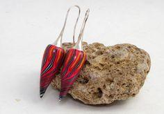 Designer Ohrringe rot Polymer Clay Ohrhänger Fimo von Schmuck aus Polymer clay und Fimo auf DaWanda.com