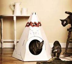 eco cat cardboard tent