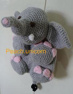 AmigurumiEllie the Elephant Backpack/bag by PeachUnicornCrochet, £1.99