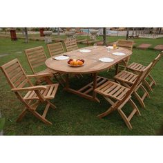 Outdoor Anderson Teak Andrew 9 Piece Patio Dining Set   SET 30  Costco Patio Set