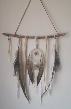 Leather And Lace... A Bohemian Dream Catcher // Home Decor, Dreamcatcher, Wall…