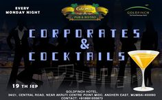 Scrumptious cuisine, appetizing drink, and pleasant atmosphere is what you will find and relish in this Corporates and Cocktails Party at Cafe Mojo Mumbai. Come and join us and make your Monday flawless. #PartyinMumbai #Mumbai #Pubs #Party #Beer #Fun #Beers #Enjoy #GoodTimes #OntheBar  #Parties #PartyMusic #DrinkLocal #Music #Dance #Pub #Drinks #EatLocal  #BeerDrinks #Mumbai  #OnthePub.