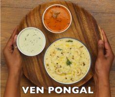 घर पर वेन पोंगल कैसे बनाये? (हिंदी में) Ven Pongal Recipe Step By Step Photo Ven Pongal Recipe, Recipe Steps, Cheeseburger Chowder, Soup, Recipes, Recipies, Soups, Ripped Recipes, Cooking Recipes