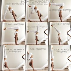 How to handstand - try these pre exercises out Yoga N. How to handstand - try these pre exercises out. -Yoga N. How to handstand - try these pre exercises out. Ashtanga Yoga, Vinyasa Yoga, Kundalini Yoga, Alo Yoga, Yoga Gym, Yoga For Beginners, Beginner Yoga, Advanced Yoga, Yoga Fitness