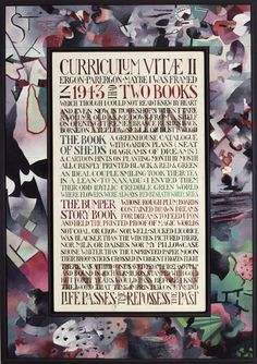 Curriculum Vitae II 1986-87 Tom Phillips, Frank Auerbach, Renaissance Men, Art School, Curriculum, Mosaic, Toms, Portraits, Artists