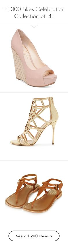 """""""~1,000 Likes Celebration Collection pt. 4~"""" by finding-serendipity ❤ liked on Polyvore featuring shoes, pumps, heels, wedges, nude blush, jessica simpson pumps, nude wedge pumps, wedges shoes, nude pumps and high heel platform pumps"""