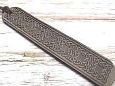 Celtic Leather Bookmark-Tooled Leather Book Mark-Fantasy
