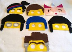 These felt masks are perfect for your Lego Movie Party! These masks are hand cut and machine- sewn. Each mask has 12 of elastic strap you can be
