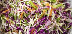 Easy coleslaw recipe, NZ Womans Weekly – Ready in 10 minutes serves 8 as a side dish 14 small head red cabbage cored and thinly sliced 14 small head green cabbage - Eat Well (formerly Bite) How To Make Coleslaw, Coleslaw Recipe Easy, Homemade Coleslaw, Coleslaw Recipes, Asian Coleslaw, Asian Slaw, Cabbage Head, Green Cabbage, Mustard Recipe