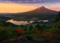 Mountain Fuji in the morning twilight at lake Kawaguchiko, Japan by Jirat Srisabye on 500px