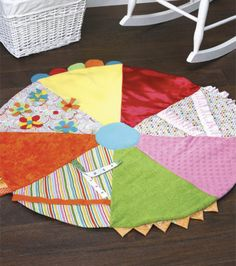 Free pattern Learn How to Make a Textured Play Mat for Baby - Baby Activity Mat
