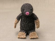 crochet mole pattern, haakpatroon mol, maulwurf anleitung