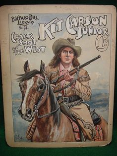 Kit Carson Jr art cover for penny weekly by Robert Prowse