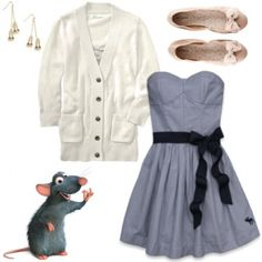 Remy Outfit (Fashion Inspiration: Disney Pixar's Ratatouille)...I don't really get it. But it's a cute outfit.