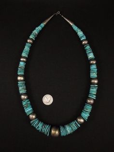 Vintage Navajo Silver and Turquoise Necklace