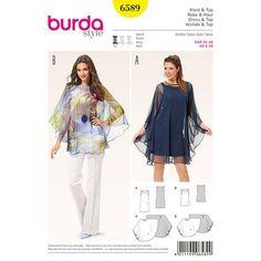 Burda Style Pattern 6589 Dress and Top