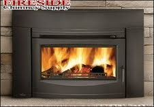 Napoleon Oakdale Cast Iron EPA Certified Wood Fireplace Insert Up to 55 000 BTUs complete with Cast Iron Surround and Door - Contemporary in Painted Black Wood Insert, Woodworking Plans Diy, Contemporary Fireplace Designs, Wood Stove, Woodworking Projects Furniture, Wood Burning Insert, Fireplace, Woodworking Furniture Plans, Wood Burning Fireplace Inserts