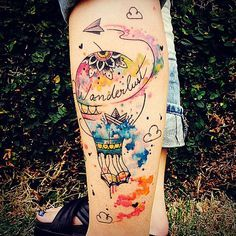 Nao importa como... O importante é viajar ✈️❤️ #watercolor #aquarela #tattooaquarela #jessicadamasceno #wanderlust