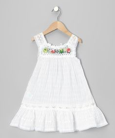 Look at this #zulilyfind! White Nathaly Ibiza Dress - Infant, Toddler & Girls by Little Cotton Dress #zulilyfinds