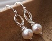 Everyday Pearl Earrings - Freshwater Pearls on Sterling Silver ear wires