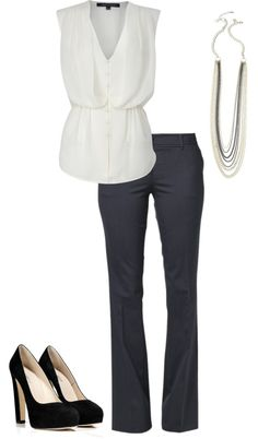 """A day at the office"" by kdeines on Polyvore"
