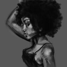 Black woman, natural hair.