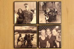 Your Custom Photo Ceramic Tile Coasters Black  Set by CrafTeaCafe, $15.00