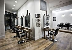 My favourite salon interior. 4000 sq ft. Designed by Ryan Mc Elhinney Owned by celebrity hairdresser Adee Phelan