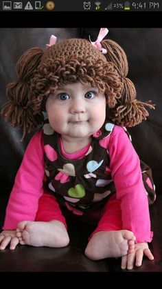 Saw one of these Cabbage Patch hats in real life today - got a good belly laugh! Totally cute.