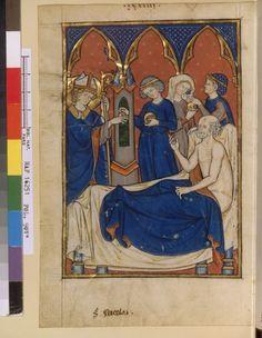 Medieval Bed, Saint Nicolas, Bnf, Gothic Art, 14th Century, Illuminated Manuscript, Motifs, Renaissance, Women's Clothing