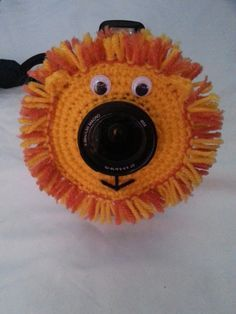 Crochet Lion Lens Buddy PDF Pattern.