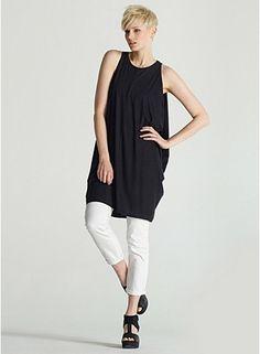 Jewel Neck Knee-Length Wedge Dress with Slip in Lightweight Viscose Jersey