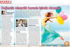 Müşterilerimizden Spiritüel Yaşam Uzmanı Gülden Üner'in vitrin benlikleri yıkarak Öz'deki Ben'de kalmanın önemini Akşam Gazetesi'nde Aysun Yıldız'a anlattı.