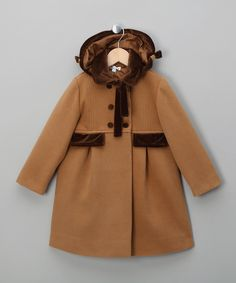 Patachou   Woollen Camel Overcoat - Infant, Toddler & Girls