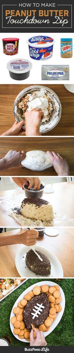 No-Bake Peanut Butter Football Dip