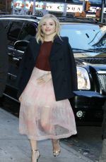 Chloe Moretz arrives at Good Morning America promoting her new film in New York City