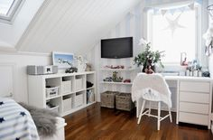 How about this for a boy's beautiful bedroom. Beautiful Norway home with Scandinavian interiors