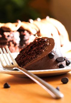 Chocolate Chip Cake with Chocolate Butter Cream Frosting