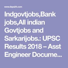 IndgovtjobsBank JobsAll Indian Govtjobs And Sarkarijobs
