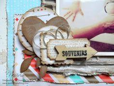 Page de scrap : Papouille +  carton +  embellissements à créer