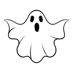 Halloween ghost icon cartoon