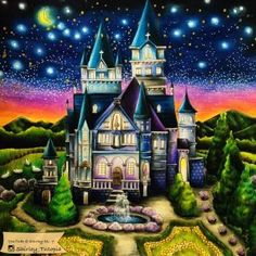 Romantic Country Magic Castle Tutorial by Shirley Tutopia