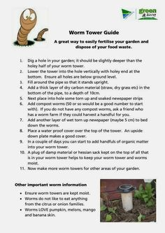 This is a worm tower instruction to DIY vermiculture in a garden